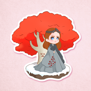 Queen in the North Sticker