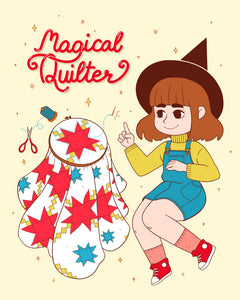 Magical Quilter 8x10 Art Print