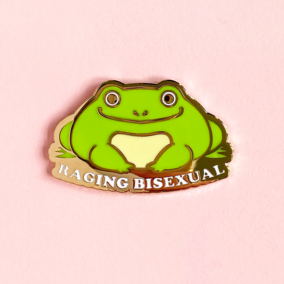Raging Bisexual Frog Pin