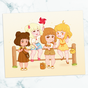 Rilakkuma Girl Gang 8x10 Art Print