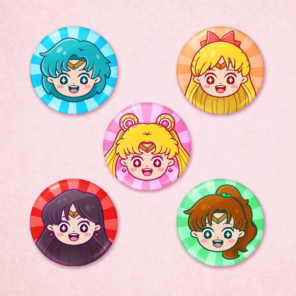 Sailor Moon Portrait Buttons
