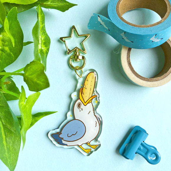 Breadstick Seagull Keychain (Backordered)