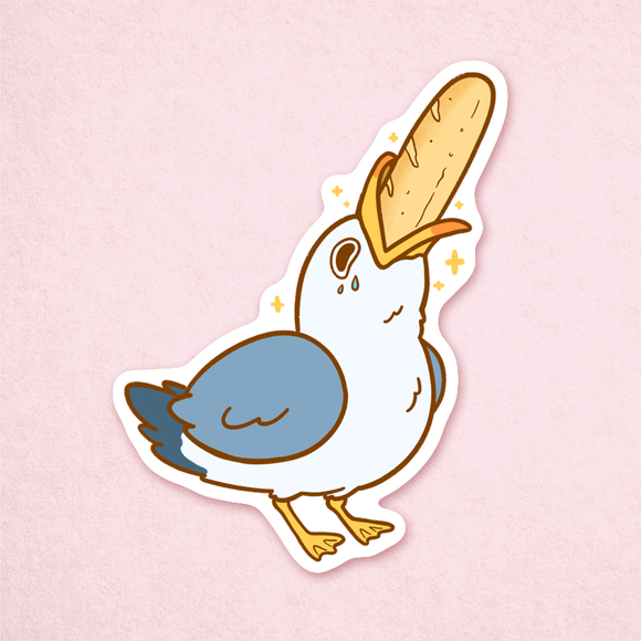Breadstick Seagull Sticker