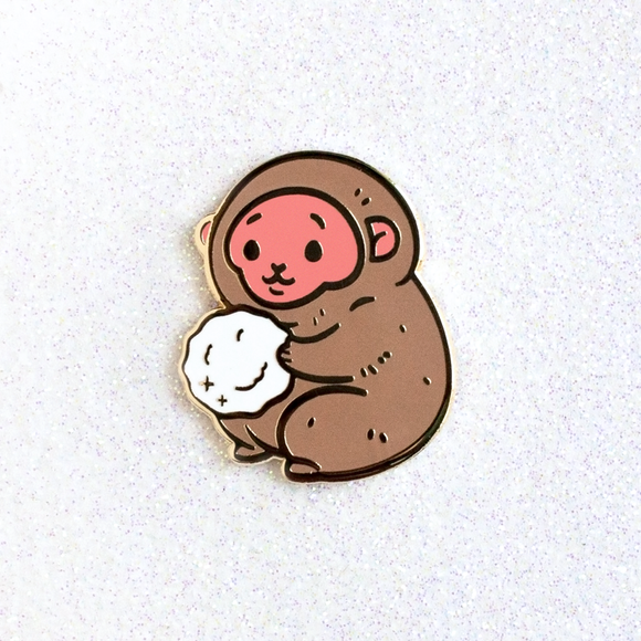 Snow Monkey Pin