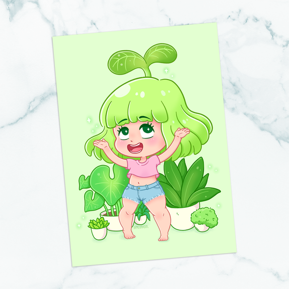 Sprout the Garden Sprite 5x7 Art Print