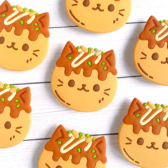 Takoyaki Cat Phone Grip