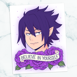 Tamaki Amajiki Believe in Yourself Art Print