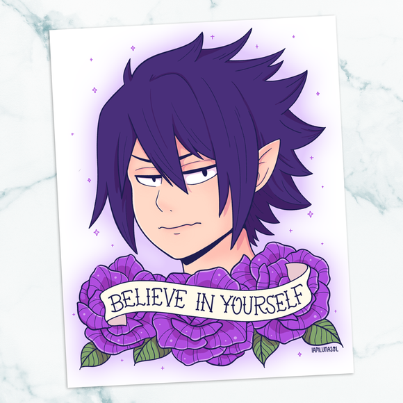 Tamaki Amajiki Believe in Yourself 8x10 Art Print
