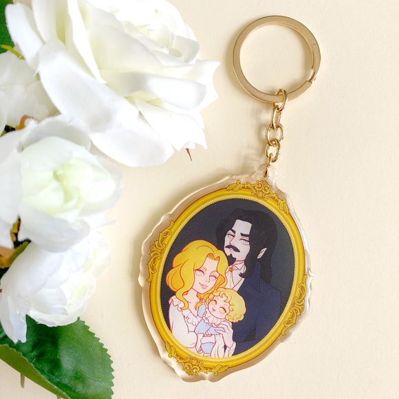 Tepes Family Portrait Keychain