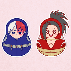 Todoroki & Momo Matryoshka Sticker Pack