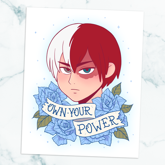 Todoroki Own Your Power Art Print