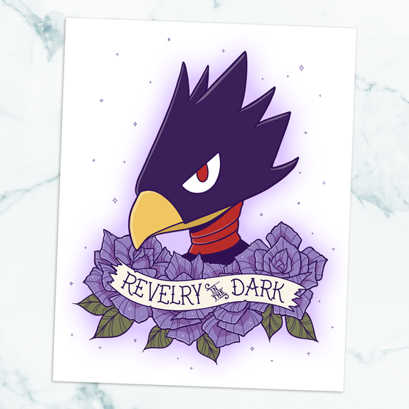 Tokoyami Revelry in the Dark Art Print