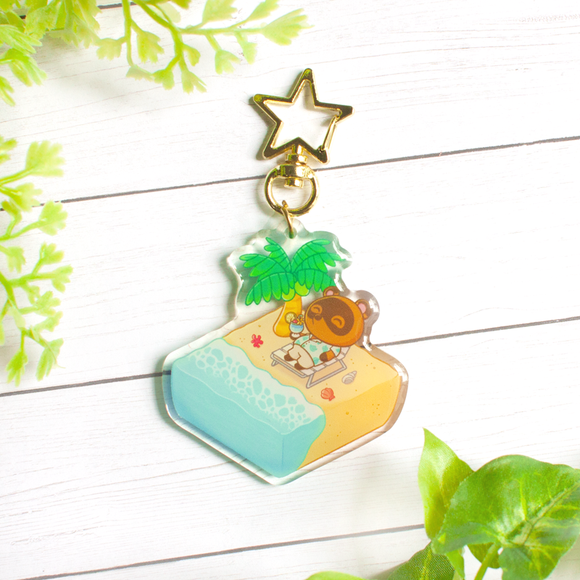 Tom Nook's Vacation Keychain