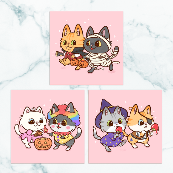 Trick-or-Treat Kitties Mini Prints