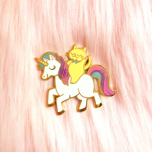 Unicorn Cat Pin *LAST CHANCE*
