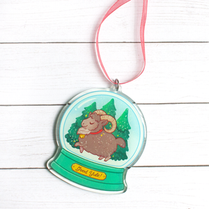 Limited Edition Yule Goat Snow Globe Ornament