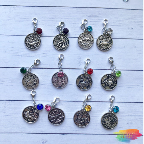 Zodiac Birthstones Charms