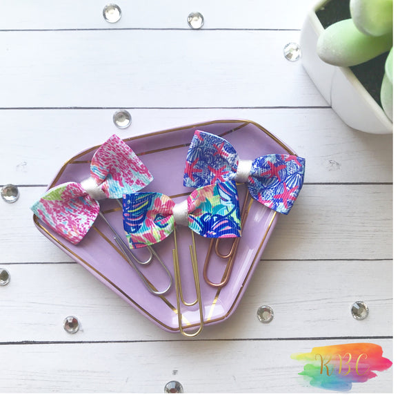 Lily Inspired Bow Clips