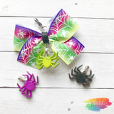 Glow in the Dark Ombre Spider Bow Charm