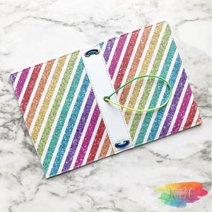 Custom Rainbow Stripe Traveler's Notebook Cover
