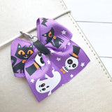 Pastel Halloween Bow Charm and Clip