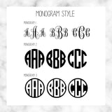 Custom Specialty Vinyl Monogram Decal