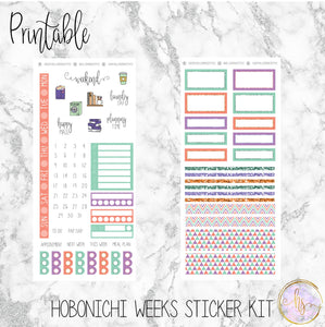 Hobonichi Weeks Spring Fling Printable Planner Stickers