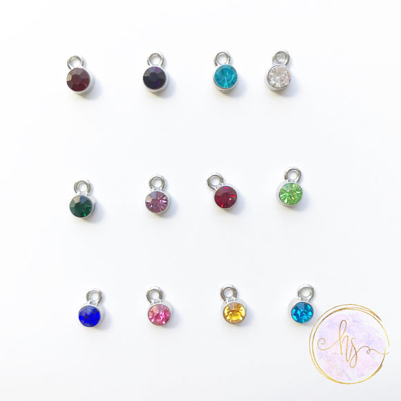 Add On - Silver Mini Birthstone