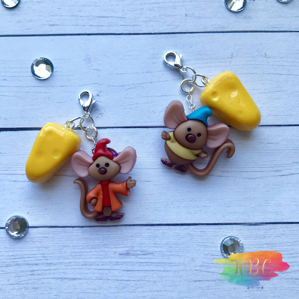 Mouse and Cheese Charms