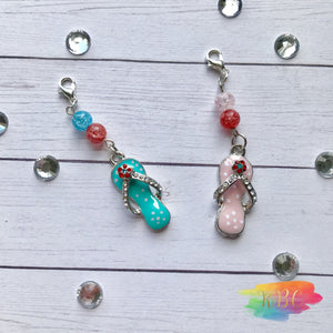 Summer Vibes Flip Flop Charm