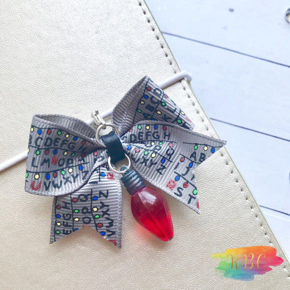Stranger Friends Bow Planner Charm