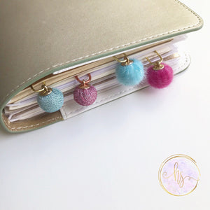 Textured Pink and Blue Planner Clips