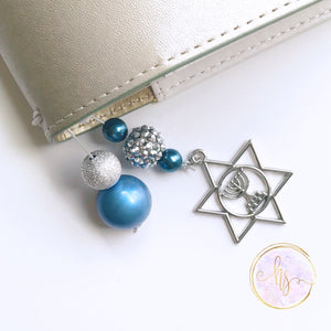 Menorah Bezel Tail and Bookmark - 7 Sizes