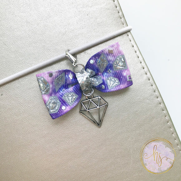 Diamond Bow Planner Charm