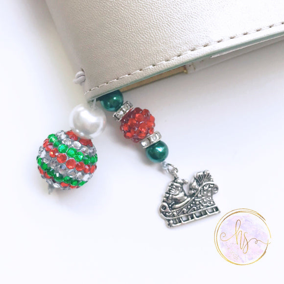 Santa's Sleigh Tail and Bookmark - 7 Sizes