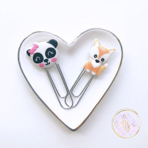 Fox and Panda Planner Clips