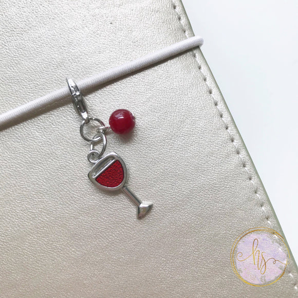 Enamel Wine Glass Charm