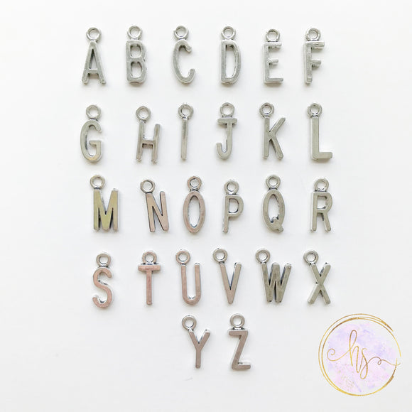 Add On - Silver Initial Charm