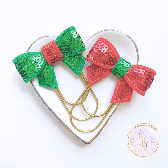 Christmas Sequin Planner Clip
