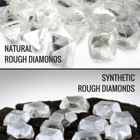 Natural or synthetic rough diamonds