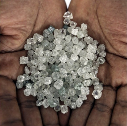 Rough Diamonds at the mine