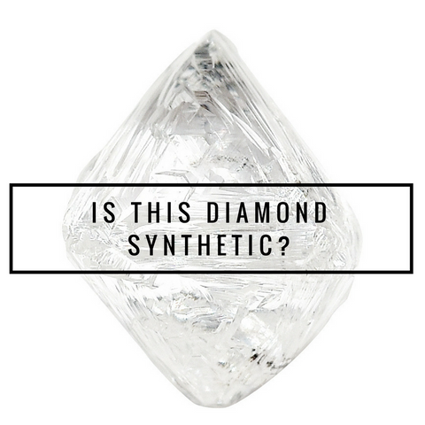 Synthetic versus natural rough diamonds