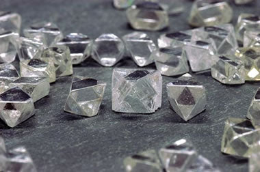 Diamonds from the Canadian Diavik Mine