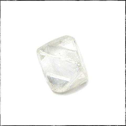 0.52 carat white rough diamond octahedron Raw Diamond South Africa