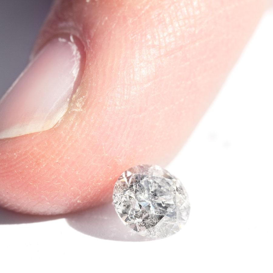 0.71 carat salt and pepper round brilliant natural diamond Raw Diamond South Africa