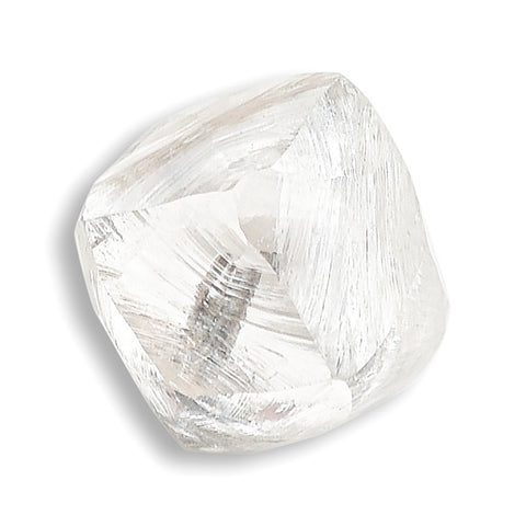 0.72 carat proportionate and bright raw diamond octahedron