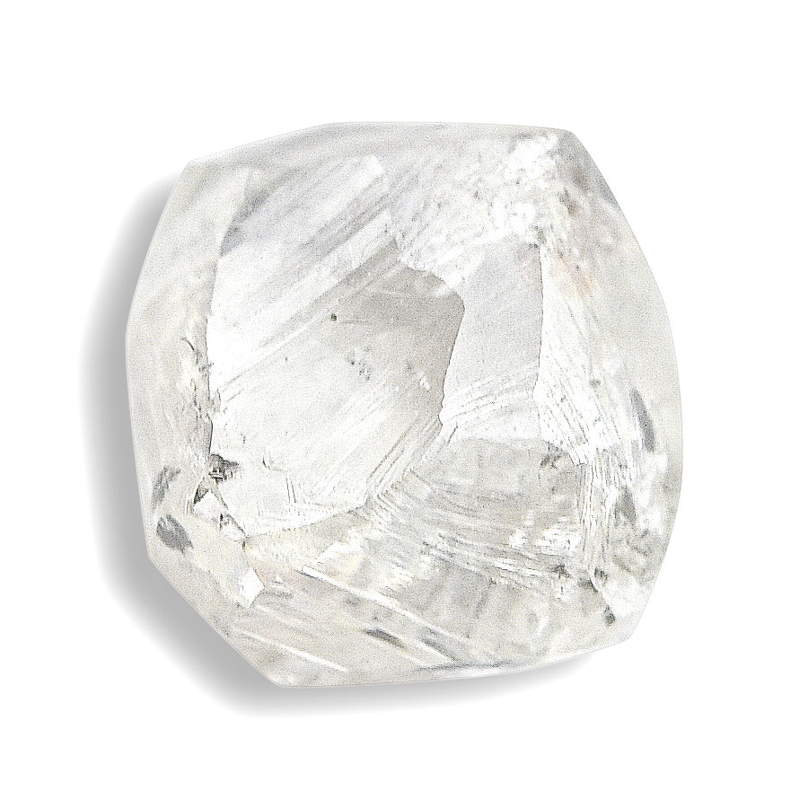 0.76 carat beautiful raw diamond dodecahedron
