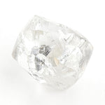 0.77 carat unique and alluvial raw diamond dodecahedron
