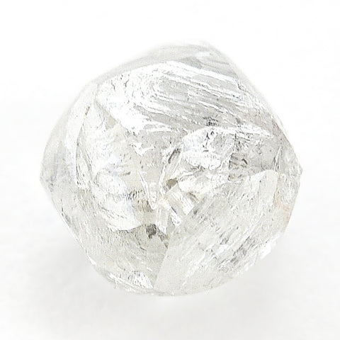 0.79 carat fancy waterdroplet rough diamond dodecahedron