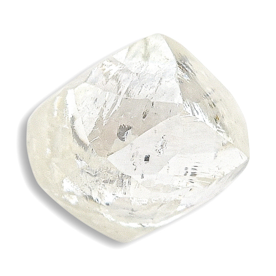 0.80 carat pretty waterlike rough diamond dodecahedron